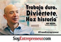 Jeff Bezos es uno de los emprendedores más influyentes de nuestros tiempos. Es el creador de Amazon, el sitio de e-commerce más grande del mundo que empezó con la venta de libros, e importante inversionista de startups de medios, así como ahora propietario de The Washington Post.