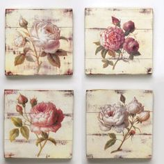 Pictures on request imagenes vintage para transferir con flores - Easy DIY Crafts Decoupage Vintage, Decoupage Box, Vintage Paper, Decoupage Canvas, Vintage Shabby Chic, Vintage Decor, Decoration Shabby, Vintage Flowers, Painting On Wood