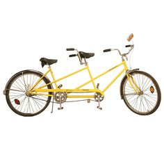 Awesome Vintage Original Schwinn Deluxe Twinn Finished in Kool Lemon Tandem Bicycle, Bicycle Tools, Bicycle Shop, Mongoose Bike, Motorbike Clothing, Bike Boots, Bike Shelf, Go Ride, Modern Toys