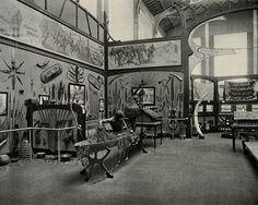 Musée du Congo, Tervuren, Belgium: one of five interior scenes showing African life.