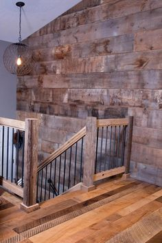 wohnen Reclaimed Barn wood wall covering - Eco-Building Products Selecting Right Types Of Air Purifi Old Barn Wood, Reclaimed Barn Wood, Rustic Wood, Rustic Stairs, Wood Stairs, Railings For Stairs, Railing Ideas, Banisters, Rebar Railing