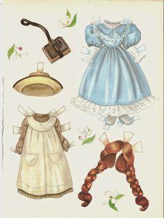 Voici deux pages papier magazine poupée nommée Anne par Lee Collins de Doll lecteur 1989 Elle a trois robes, deux chapeaux, une coiffure supplémentaire et deux bourses. J'aime vraiment des poupées de papier de poupées et de la coiffure supplémentaire est très mignon. Description: revue poupée Nom: Anne Date: 1989 Editeur: Doll lecteur Artiste: Lee Collins
