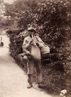 Basket vendor, Lysekil, Sweden. Date: 1880s.