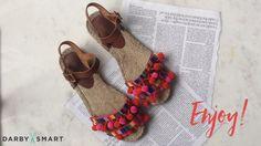 Make Cute Pom Pom Sandal