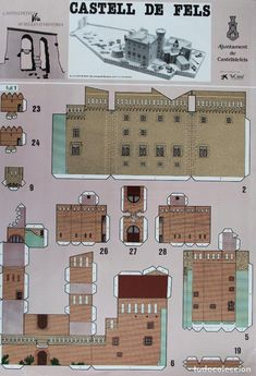 Paper Toys, Paper Crafts, Brick Paper, Paper Structure, Paper Houses, Mini Things, Fortification, Pattern Drawing, Paper Models