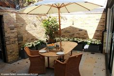 The Courtyard of the Asquith, one of our Chelsea Vacation Rentals in London