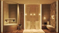Luxury Bathroom Ideas With Simple Neutral Color