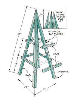 How to build a garden obelisk