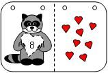 the kissing hand number flip book