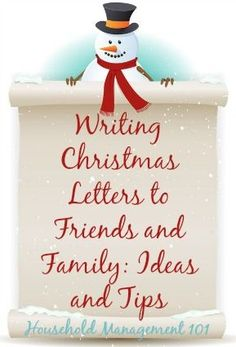 Writing Christmas letters to friends and family: ideas and tips {on Household Management 101}