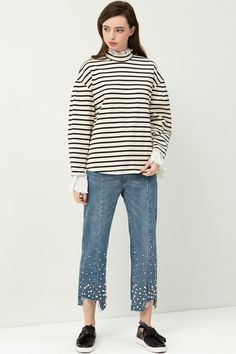 Joella Pearls Pintuck Jeans Discover the latest fashion trends online at storets.com  #jeans #pearlspintuckjeans #pearlpoint