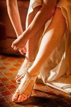 rhinestone t-strip heels
