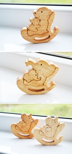 Puzzle Toy  Wooden Puzzle dolphin fish  by LadyEvaDESIGN on Etsy. Price  $12.75 USD