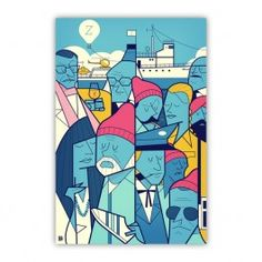 The Life Acquatic with Steve Zissou Wood Print $26.00