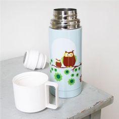 #Blafre stainless-steel-bottle-bpa-free-anoxidoto-thermos-retro-owl