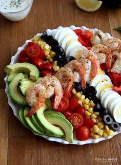 콥샐러드 만들기, 요거트 드레싱으로 간단하게~ 주말한끼식사 : 네이버 블로그 Pasta Salad, Cobb Salad, A Food, Food And Drink, Food Styling, Favorite Recipes, Snacks, Cooking, Ethnic Recipes