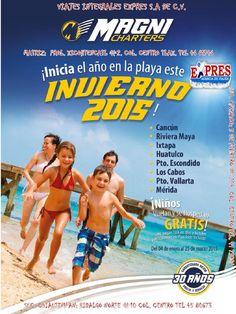 Playas invierno 2015  PAQUETES DE PLAYAS NACIONALES INVIERNO 2015 DESTINOS: CANCUN, RIVIERA MAYA, IXTAPA, HUATULCO, VALLARTA, LOS CABOS Y MERIDA