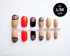 """Supa Nails """"Tikapali"""" 12 Tribal Nails"""