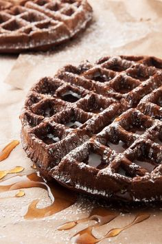 Dark Chocolate Waffles by I bake he shoots: a chocolate alternative for breakfast that's not overly sweet. | ibakeheshoots.com