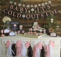 Baby Its Cold Outside Banner Baby Its Cold Outside Baby Shower Decorations Winter Party Decorations First Birthday Party Photo Props Baby Shower Ideas for Girls Snowflake Baby Shower, Christmas Baby Shower, Fiesta Shower, Shower Party, Shower Games, Baby Girl Shower Themes, Baby Shower Gender Reveal, Baby Girl Babyshower Themes, December Baby Shower Ideas
