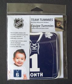 NHL Toronto Maple Leafs Team Tummies Monthly Stickers of Leafs Hockey Jersey #FirstTimeFan