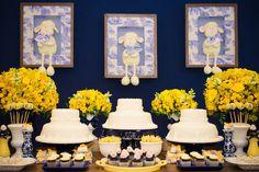 Batizado azul e amarelo
