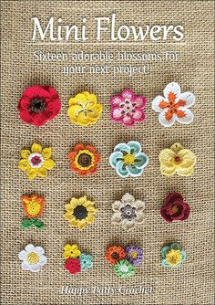 Ravelry: Mini Flowers - crochet pattern for purchase Diy Crafts Ideas Ravelry: Mini Flowers -Read More – The e-book includes patterns for small Moth Orchid, Rose, Poppy, Gerbera… Ravelry: Mini Flowers - patterns (not free) I love looking at the c Crochet Diy, Crochet Motifs, Crochet Patterns Amigurumi, Love Crochet, Crochet Crafts, Crochet Stitches, Crochet Projects, Knitting Patterns, Crochet Appliques