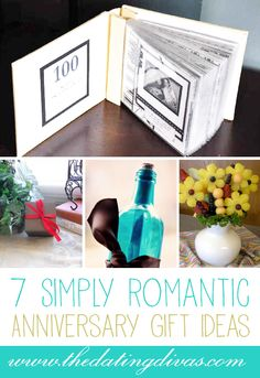 SUCH cute anniversary gift ideas! (These would work great for Valentine's Day too!)