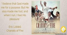 Top 10 Inspirational Movies on Sports & Fitness Eric Liddell, Chariots Of Fire, Fire Movie, God Made Me, Inspirational Movies, Christian Families, Christian Devotions, Sabbath, Get In Shape