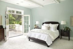 "Benjamin Moore recommends pairing ""WOODLAWN BLUE"" with their ""FALCON BROWN"" 1238 and ""LIGHTHOUSE LANDING..."