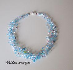 Collana a otto fili con perline all' uncinetto, by  vetrina miriam chiocciola, 18,00 € su misshobby.com