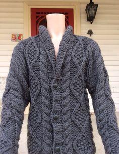 Steiner Martin Fine Living Men's Peruvian Wool hand knit sweater - www.steiner-martin.com