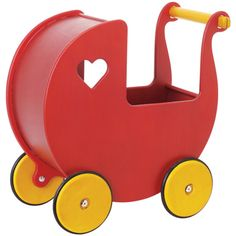 Red Toy Pram, Wooden Toys, Gifts and Toys