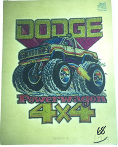 Vintage 1979 Roach Incorporated Dodge 4x4 by VintageIronOn on Etsy