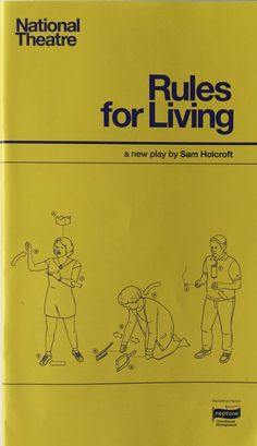 Rules for Living by Sam Holcroft, Dorfman Theatre. With Miles Jupp and Stephen Mangan. Apr 2015.