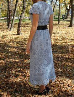 """Платье """"Ювента"""" для дочери по мотивам шетландских узоров"""