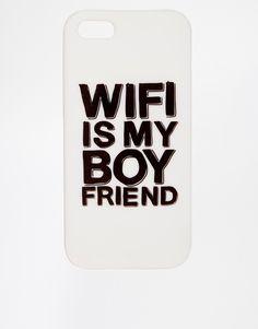 ASOS iPhone 5 Case with WIFI is My Boyfriend Slogan
