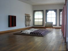 Bedroom in private home and studio of artist Donald Judd (1928-1994) at 101 Spring Street, Soho, NYC.