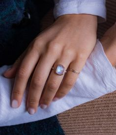 Faceted Oval Moonstone with Side Diamonds Million Dollar Ring, Fine Jewelry, Diamonds, Silver Rings, Diamond, Jewelry