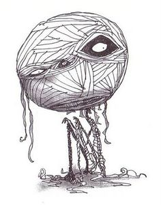 """From """"The Melancholy Death of Oyster Boy and Other Stories"""" by Tim Burton. Estilo Tim Burton, Art Tim Burton, Tim Burton Stil, Tim Burton Drawings, Tim Burton Kunst, Tim Burton Zeichnungen, Art Spiegelman, Mummy's Boy, Tim Burton Characters"""