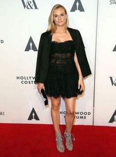 Diane Kruger - Elie Saab dress, Charlotte Olympia clutch & Sophia Webster