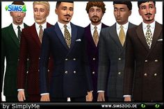 Men's Fashion Festive Suit by simplyme at Blacky's Sims Zoo via Sims 4 Updates  Check more at http://sims4updates.net/clothing/mens-fashion-festive-suit-by-simplyme-at-blackys-sims-zoo/