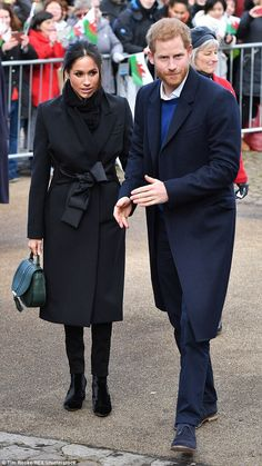 Meghan arrived in Cardiff with Harry for their third official engagement together, dressed in head-to-toe in carefully chosen items supporting both British fashion and charitable endeavours.
