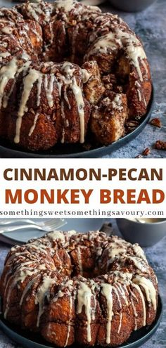 This indulgent Cinnamon Pecan Monkey Bread is sweet, sticky and filled with a brown sugar cinnamon swirl and chopped pecan nuts! #monkeybreadrecipe #cinnamonmonkeybread #monkeybreadrecipeuk Egg Recipes For Breakfast, Brunch Recipes, Sweet Recipes, Dessert Recipes, Delicious Desserts, Cinnamon Monkey Bread, Pumpkin Cinnamon Rolls, Cinnamon Pecans, Toasted Pecans