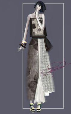 """Yuki 2"" Sketch | Stefania Belmonte | my collection | Fashion Illustration"