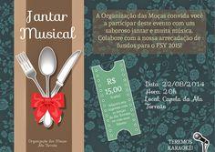 Apenas uma Secretaria: Jantar Musical - Arrecadando fundos para o FSY