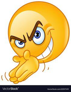 Scheming villain emoticon rubbing his hands Funny Emoji Faces, Emoticon Faces, Funny Emoticons, Smileys, Smiley Emoji, Emoji Images, Emoji Pictures, Funny Pictures, Naughty Emoji