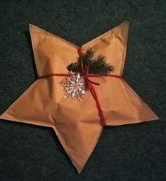 I cut two identical stars out of the paper, which I began sewing on the sewing machine.  When the star was almost stitched, through the opening I filled it with paper sawdust to make it soft and put a gift into it. After filling the star, I completely dropped the star. I decorated it with a red paper ribbon, needles and plastic flake. Paper Ribbon, Red Paper, Christmas Gifts, Plastic, Stitch, Stars, Sewing, How To Make, Decor
