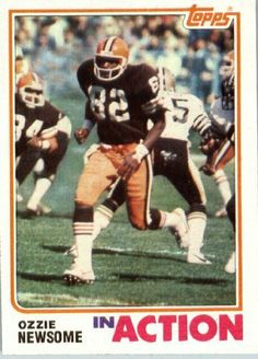 1982 Topps # 68 Ozzie Newsome Cleveland Browns Football Card - In Protective Screwdown Display Case! by Topps. $2.88. 1982 Topps # 68 Ozzie Newsome Cleveland BrownsFootball Card - In Protective Screwdown Display Case!