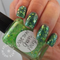 atlcatsmeow #lynnderella #le Not That Green Fairy over #glittergal Teal Green #lovelynnderella